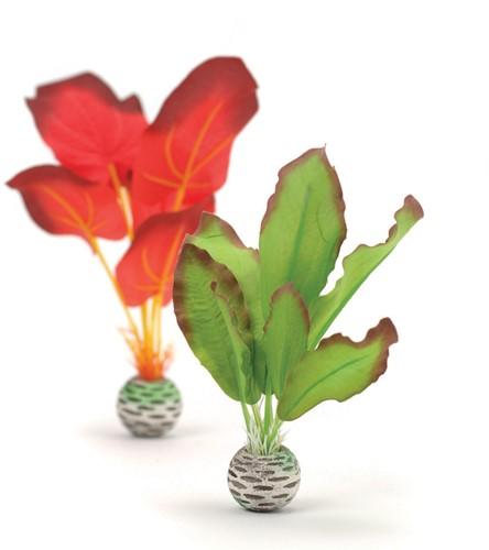Biorb zijden plantenset klein - groen&rood