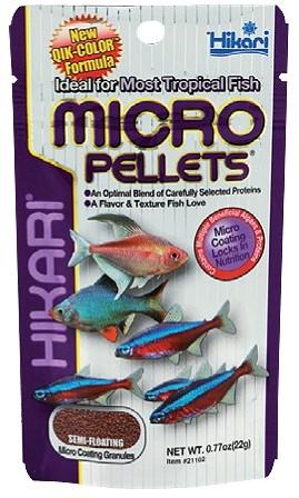 Hikari Micro Pellets - 22 gram - over de datum