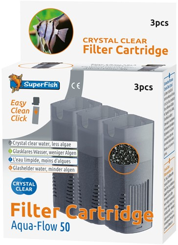 Superfish Aqua-Flow 50 Crystal Clear cartridge