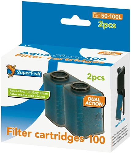Superfish Aqua-Flow 100 Easy Click Filter Cartridges