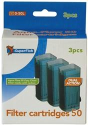 Superfish Aqua-Flow 50 Easy Click Filter Cartridges